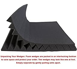 12 Pack- All Burgundy Acoustic Panels Studio Foam Wedges 1\