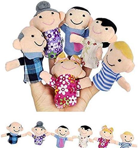 [해외]Ruior 6PCSSet Kids Plush Toy Cute Cartoon Finger Doll Parent-child Interactive Toy Finger Puppets / Ruior 6PCSSet Kids Plush Toy Cute Cartoon Finger Doll Parent-child Interactive Toy Finger Puppets
