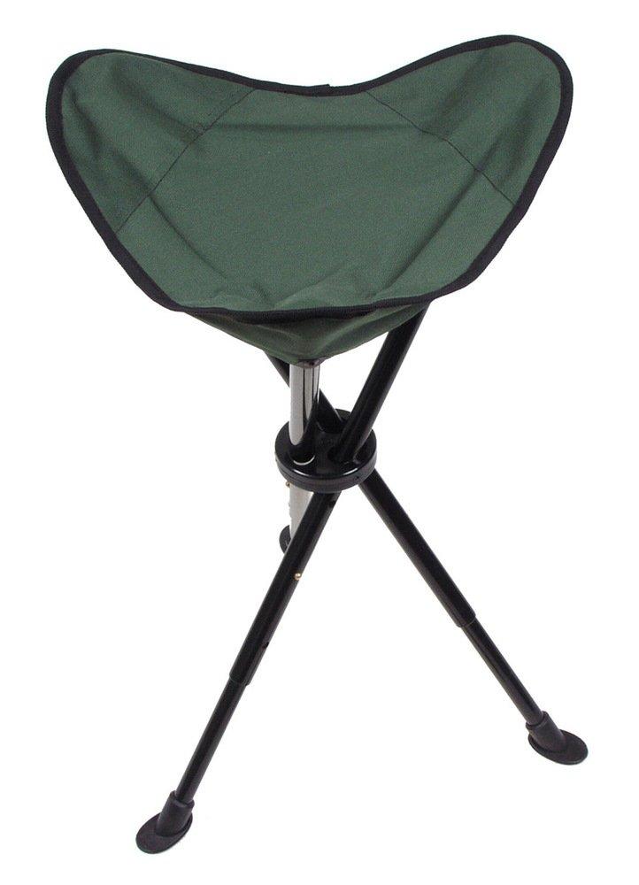 MFH - Silla de trípode telescópica Plegable con Bolsa de Transporte, Color Verde
