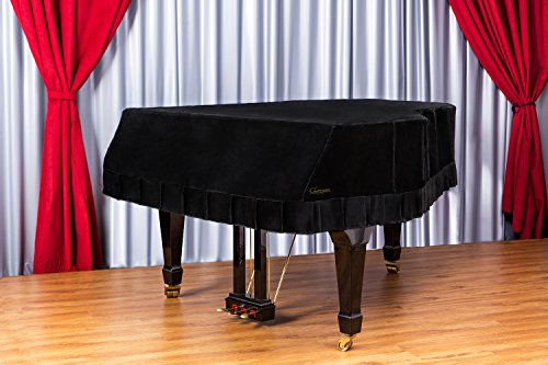 Clairevoire Grandeur: Premium Velvet Grand Piano Cover [C3] | Handcrafted | Luxury-grade Velvet | Anti-scratch/blemish/dust | Gentle Climate Protection | For Yamaha, Steinway, Kawai and many others (Custom Covers Piano)