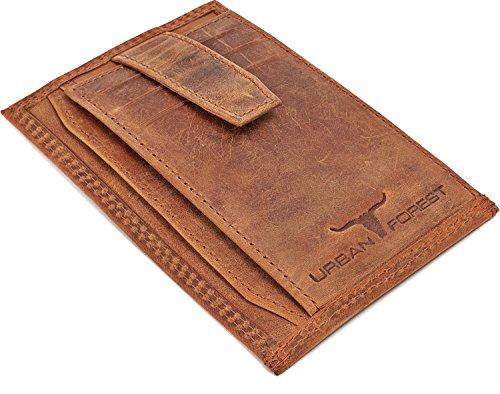 Et Véritable Forest Crédit Marron Avec Cuir De Slim Urban Homme Cognac Mince Plat Pour Porte cartes monnaie Porte Couleur En Extra Finition B6PxFnBwqp
