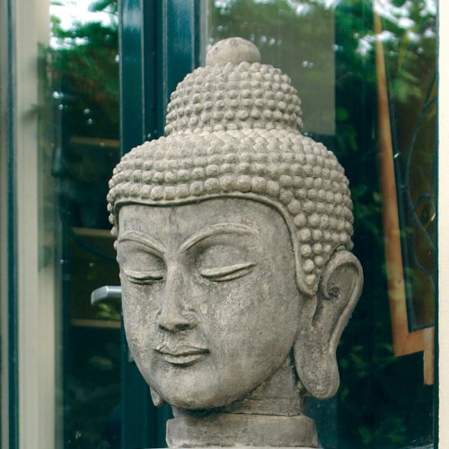 Bon Large Garden Sculptures   Stone Buddha Head Statue: Amazon.co.uk: Garden U0026  Outdoors