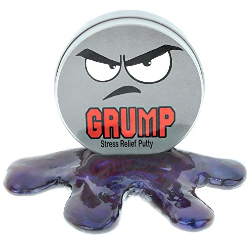 (Grump Stress Relief Putty – Stress Relief Grumpy Gifts Funny Gag Gifts for Friends Kids Gifts Stocking Stuffers Secret Santa Gifts for Coworkers Weird White Elephant Ideas Purple Therapy)