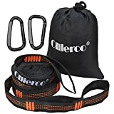 Durable Quality, but Light Weight. TOP RATED - 780 Lbs Supported (Two People... EASY). Hang & adjust your hammock in seconds. Each strap is 10 feet long with 15 adjustment loops. Tree Friendly - The 1 inch flat strap design will not harm trees. S...