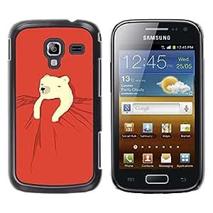 Be Good Phone Accessory // Dura Cáscara cubierta Protectora Caso Carcasa Funda de Protección para Samsung Galaxy Ace 2 I8160 Ace II X S7560M // polar bear kids sweet cute red night