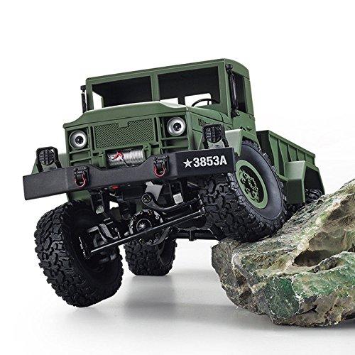 2.4Ghz Radio Control 1/16 4X4 R/C High-Imitation U.S. Military Truck Off-Road Crawler (Green)