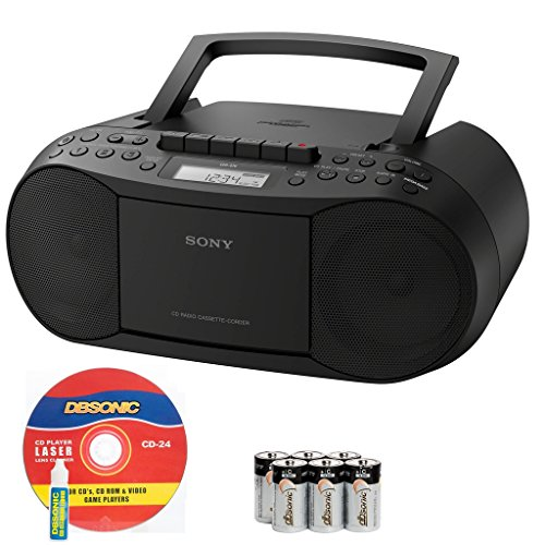 Sony Compact Portable Stereo Sound System Boombox with MP3 CD Player, Digital Tuner AM/FM Radio, Tape Cassette Recorder, Headphone Output & 3.5mm Audio Auxiliary input Jack to connect any iPod, (Sony Ipod Stereo)