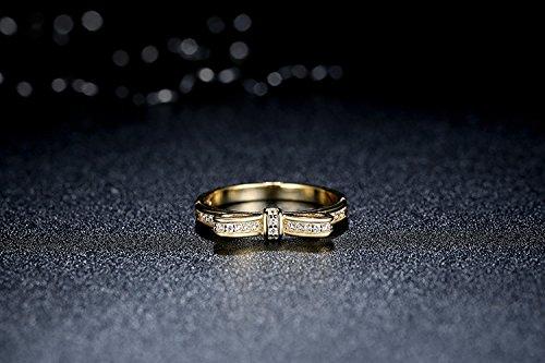 Amazon.com: Dixey Luxury Anillos Sortijas Oro 18k de Compromiso Aniversario Matrimonio Boda Plata Anel De Prata 925 Joyeria Fina Para Mujer: Jewelry