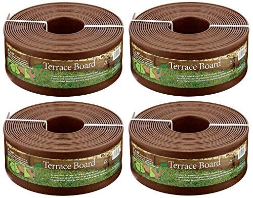 Master Mark Plastics 95340 Terrace Board Landscape Edging Coil, 5-inch x 40-Foot, Brown (Pack of 4) (Boards Landscaping)