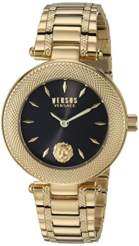 Versus by Versace Women's 'Brick Lane EXT' Quartz Stainless Steel and Gold Plated Casual Watch(Model: S71040016)