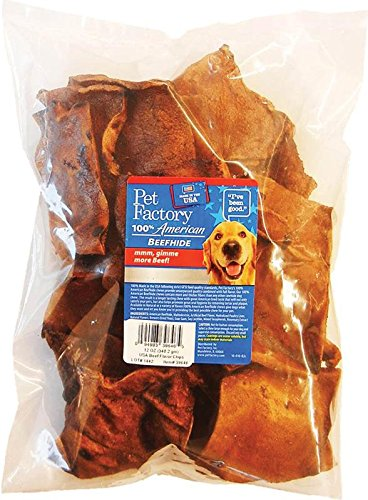PET FACTORY 39646 USA Beef Hide Beef Basted Chips, 12 (Beef Basted Chips)