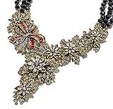 Heidi Daus SWAROVSKI Crystal Beaded Drop Necklace ~ Holiday Classic (Black)