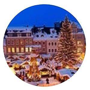 alfombrilla de ratón Mercado de Navidad en el, Mercado de Navidad Erzgebirge - ronda - 20cm