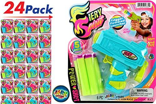 JA-RU Girl Ultra Foam Shot Gun (Pack of 24) and one Bouncy Ball Super Powerful Shotgun | Item #4684-24 ()