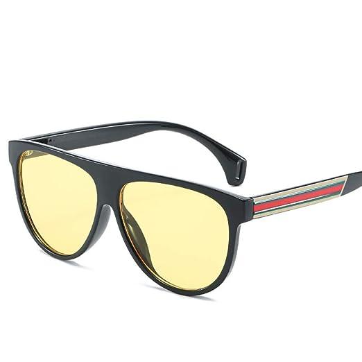 Yangjing-hl Gafas de Sol Trend Big Box Gafas de Sol Trend Flat Top ...