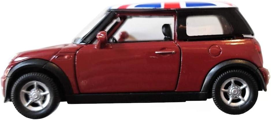 My London Souvenirs Modelo De Juguete Moderno Mini Cooper - Metal Fundido / Piezas De Plástico / Tire hacia Atrás Y Vaya / Rojo