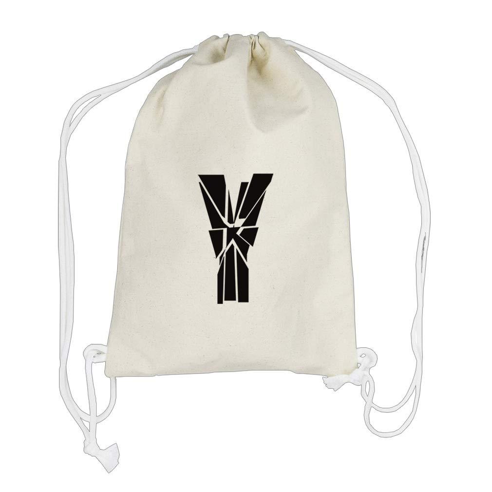 ''Y'' Glass Monogram Letter Y Boys-Girls Backpack Drawstring Bag