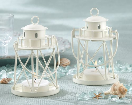 48PC 14037NA By The Sea Lighthouse Tea Light Holder Wedding Favor Decoration Wed