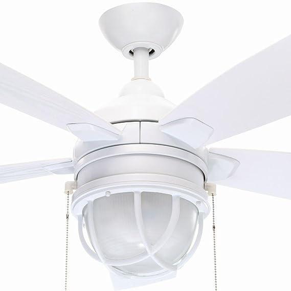 Hampton Bay Seaport 52 In. Indoor/outdoor White Ceiling Fan     Amazon.com