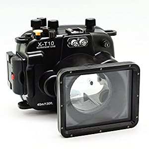 CamDive 40m/130ft Waterproof Underwater Camera Housing for Fujifilm X-T10 & X-T20 (16-50mm )