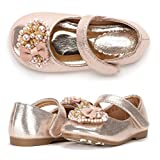 Dream Pairs ANGEL-99 New Mary Jane Ballerina Flat Pearls Heart Embelishment Throughout Velcro Strap