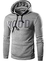 Men's Sweater Hoodie Fashion Casual Slim Character Warm Pullover Sweatshirt Jacket Top