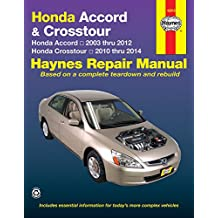 Honda Accord & Crosstour: Honda Accord 2003 thru 2012 & Honda Crosstour 2010 thru 2014