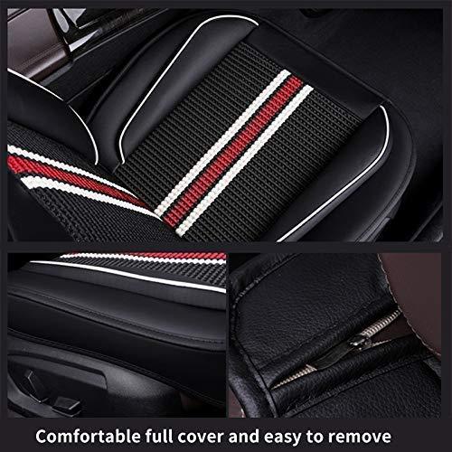 Muchkey 5-Sitze Alle Jahreszeiten Leder Auto Sitzbez/ügesets Autositzauflage wasserdicht f/ür Nissan Juke Qashqai X-Trail Zubeh/ör f/ür Autositze Stil D braun