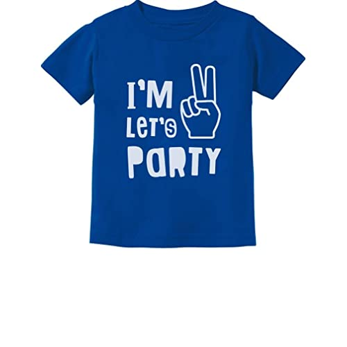 Im Two Lets Party Cute 2nd Birthday Gift Toddler Kids T Shirt