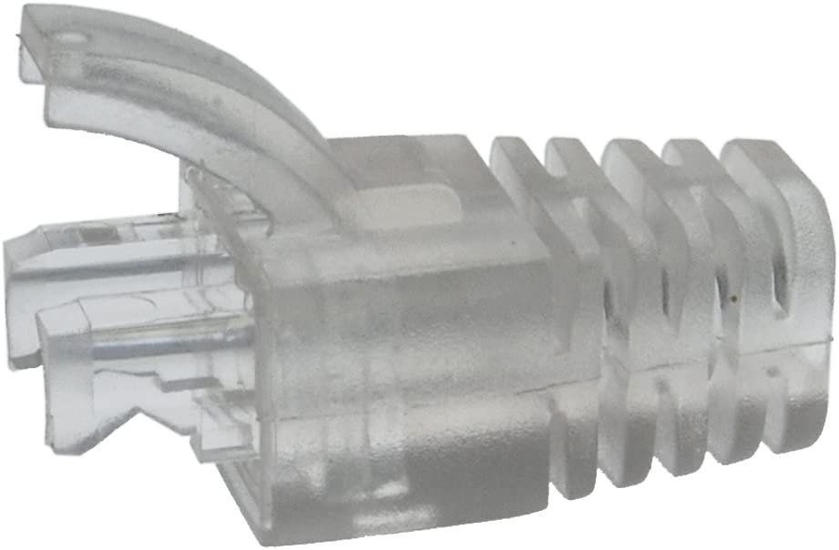 20 Pack Strain Relief Clear Boot for Cat.6 UTP RJ45 100pack GOWOS