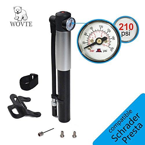 WOVTE Mini Bike Pump with Pressure Gauge, 210 P...