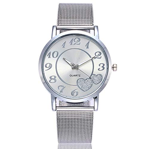Bokeley 2019 Newest Watch, Women's Watches, Casual Quartz Stainless Steel Band Strap Watch Analog Wrist Watch (Silver)