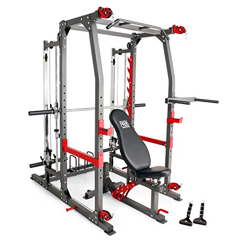 Marcy Pro Smith Machine Weight Bench Home Gym Total Body Workout Training System by Impex