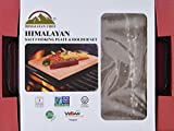 Himalayan Chef Natural Rock Salt Cooking Plate Set with Tray,100% Natural Cooking Plate mined from Himalayan Mountains.