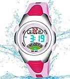 Girls Digital Watch, Kids Waterproof Sports Watch with Alarm Timer, Outdoor Sport Watches for Childrens