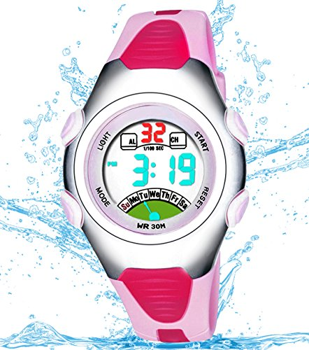 Girls Digital Watch, Kids Waterproof Sports Watch with Alarm Timer, Outdoor Sport Watches for Childrens