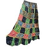 Womens Boho Skirt Ethnic Patchwork Vintage Gypsy Fashion Long Skirts