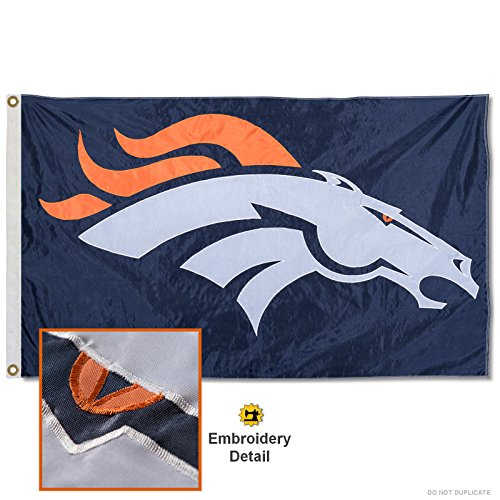 WinCraft Denver Broncos Embroidered Nylon Flag