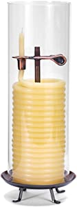 Candle by the Hour 80-Hour Candle with Glass Cylinder, Eco-friendly Natural Beeswax with Cotton Wick