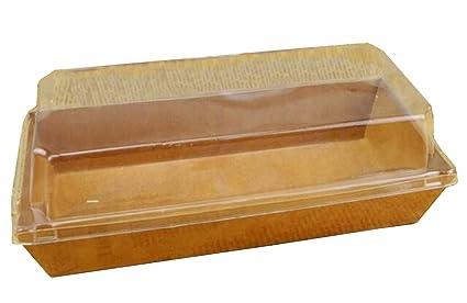 Juego de 20 cajas de sandwich desechables Caja de panes Bandejas de hot dogs con tapas