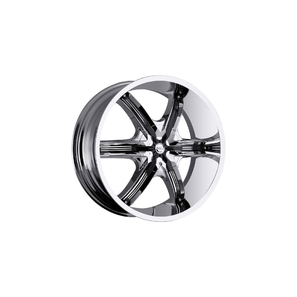 Milanni Bel Air6 22 Chrome Wheel / Rim 5x5 & 5x135 with a 15mm Offset and a 87 Hub Bore. Partnumber 460 22955C15