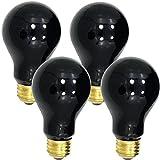 (Set/4) 120v Ultraviolet Black-Lite Light Bulbs With 500-Hour Indoor Flood