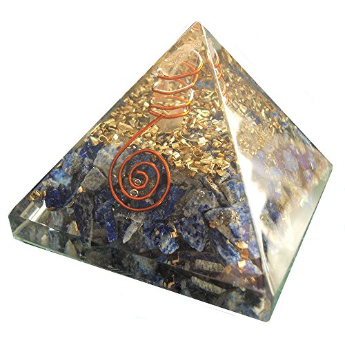 New Lapis Lazuli Chakra Orgone Pyramid Booklet Healing Crystals India Crystal Therapy Crystal Gemstones Copper