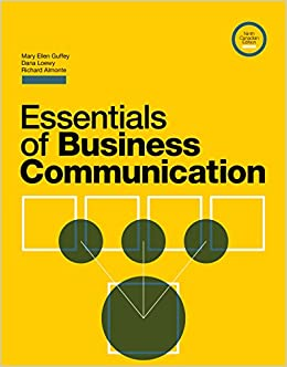 Essentials Of Business Communication 9th Edition Pdf