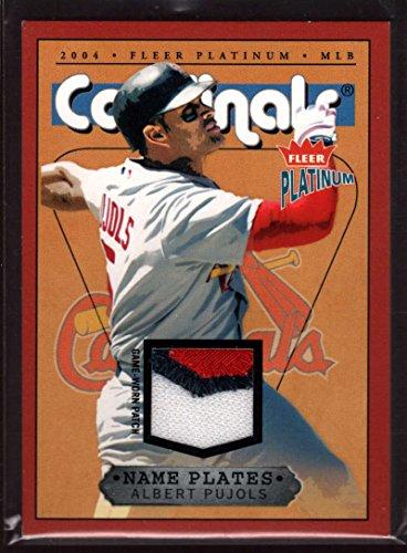 (Albert Pujols 2004 Fleer Platinum Name Plates Patch Jersey /470 SP Mint St. Louis Cardinals)