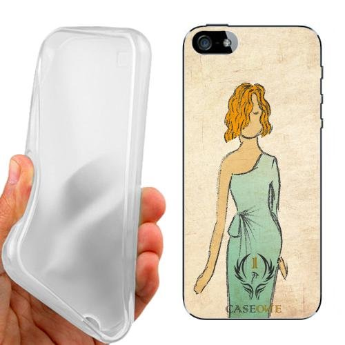 CUSTODIA COVER CASE CASEONE VESTITO VINTAGE STYLE PER IPHONE 5 5G 5S