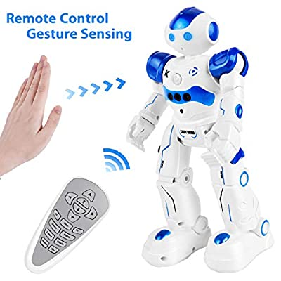 ROOYA BABY Toys for Kids RC Remote Control Robot Toy for Boys Girls Birthday Gift Present, Interactive Dancing Singing Speaking Walking Smart Robotics
