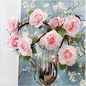 JIAHUADE Magnolia Flower Foaming Branch Rattan Hanging Orchid Hanging Wall Flower Simulation Magnolia High-Grade Floral Wedding Flower Magnolia 77