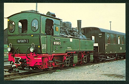 - METER GAUGE TANK German State Railways East Germany Train Railroad Postcard