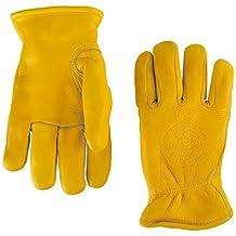 Klein Tools 40016 Deerskin Work Gloves, Lined, Medium